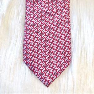 Vineyard Vines Red & Blue Printed Silk Tie